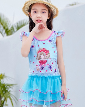 Girl lovely child conjoined Western style swimwear