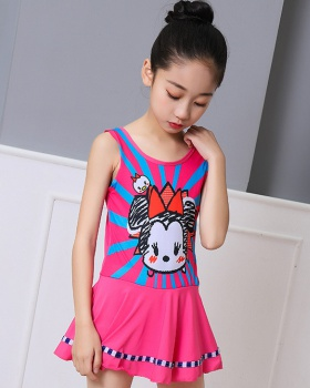 Sweet girl conjoined lady dress lovely cartoon swimwear
