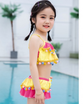 Child girl separate swimwear sweet lovely skirt