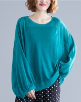 Sunscreen Korean style sweater pure large yard tops for women