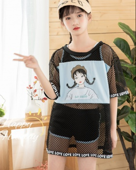 Sports Korean style skirt child separate swimwear