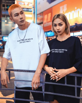 Loose T-shirt large yard couple clothes for men