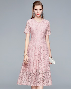 Western style temperament long middle-aged dress for women