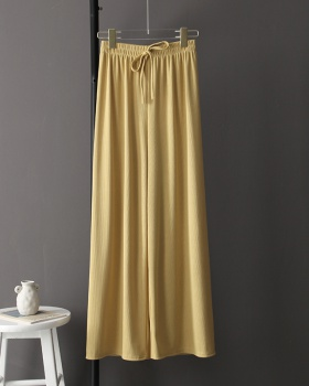 Pleated autumn thin drape Casual wide leg pants for women