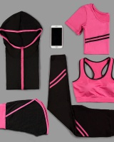 Run fitness yoga autumn sweatpants 5pcs set