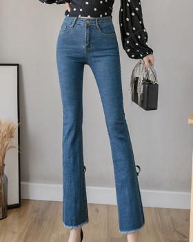 Slim elasticity flare pants loose jeans for women