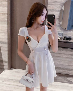 Nightclub low-cut Cover belly slim sexy dress for women