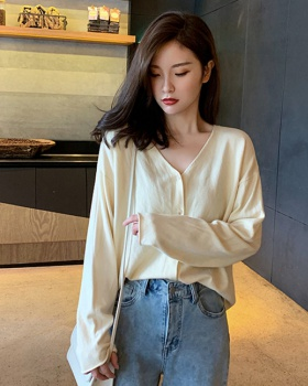 Autumn Western style sweater thin slim coat for women