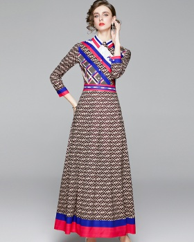 Slim fashion all-match European style dress