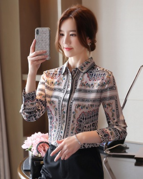 Chiffon autumn shirt long sleeve fashion tops