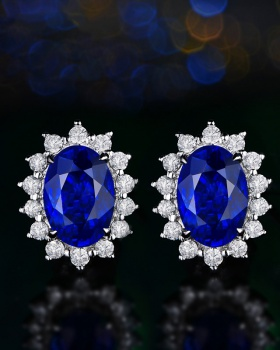 Crystal gem stud earrings colors earrings for women