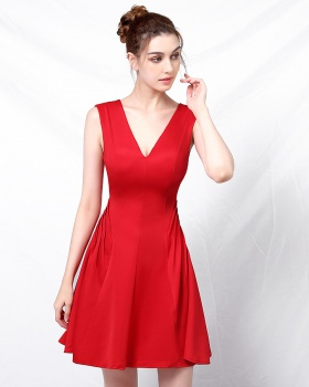 Short small dress nightclub sexy bridesmaid dress