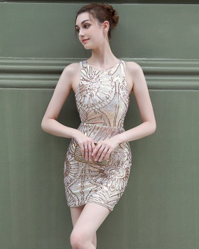 Elegant sexy banquet evening dress for women
