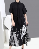 Korean style autumn Japanese style dress frenum loose shirt