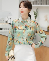 Mixed colors fashion tops Korean style shirt for women