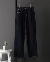 High waist Casual long pants slim jeans for women