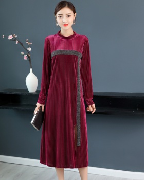 Autumn large yard long sleeve bottoming spring and autumn dress