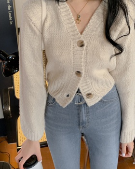 Thick needle spring and autumn sweater knitted cardigan
