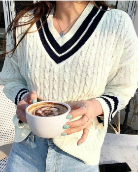 Spring and autumn cardigan woolen yarn sweater for women
