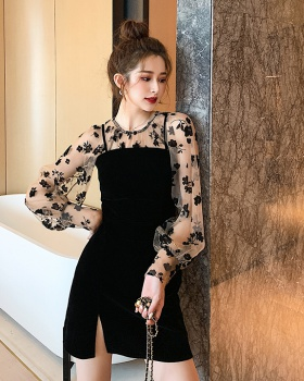 Western style autumn and winter dress 2pcs set