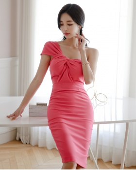 Summer slim bright formal dress sexy fashion dress