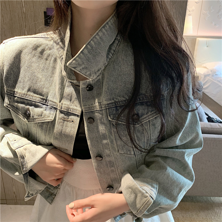 Long sleeve all-match tops autumn coat for women