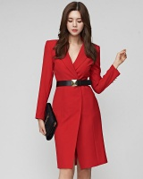 Long dress Korean style business suit