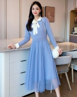 Autumn knitted beautiful bottoming fashion and elegant dress