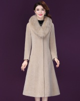 Fox fur collar coat Korean style fur coat
