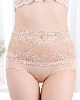 Lace high waist hold abdomen large yard sexy antibacterial briefs