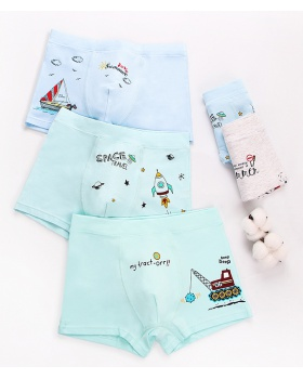 Cartoon big boy child pure cotton printing briefs