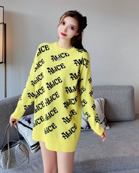 Loose pullover irregular sweater for women