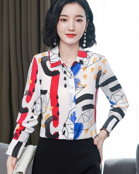 Creative real silk shirt France style tops for women