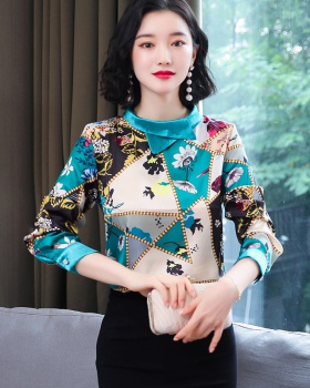 Fashion shirt floral small shirt for women