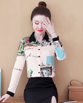 Spring and autumn fashion shirt Western style tops for women