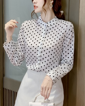 Long sleeve tops printing bottoming shirt for women