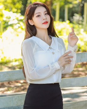 Korean style all-match tops white Casual shirt for women
