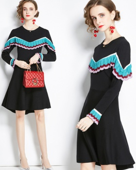 Autumn and winter bottoming dress splice sweater