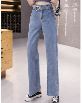 Slim wide leg pants spring and autumn long pants for women