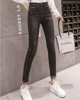 High waist slim long pants autumn and winter jeans