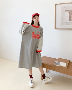 Autumn and winter loose skirt Casual fat hoodie for women
