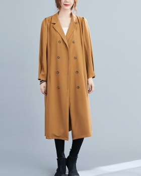 Loose all-match windbreaker pinched waist dress