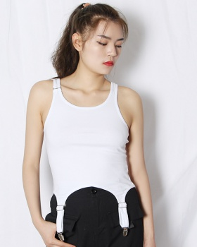 Summer fashion irregular all-match pure sling vest