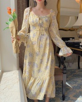 France style floral long dress romantic dress for women