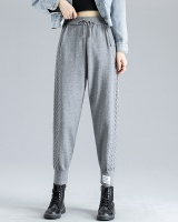 Casual knitted harem pants lantern sweatpants for women