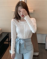 Autumn splice tops Korean style halter sweater