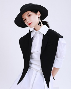 Suit collar artifact summer waistcoat for women