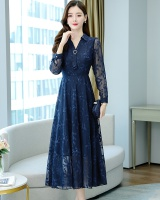 Chiffon big skirt dress autumn long dress for women