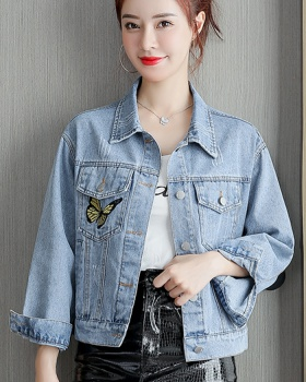 Fashion all-match coat letters short jacket for women