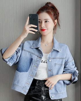 All-match Korean style autumn tops denim loose coat for women